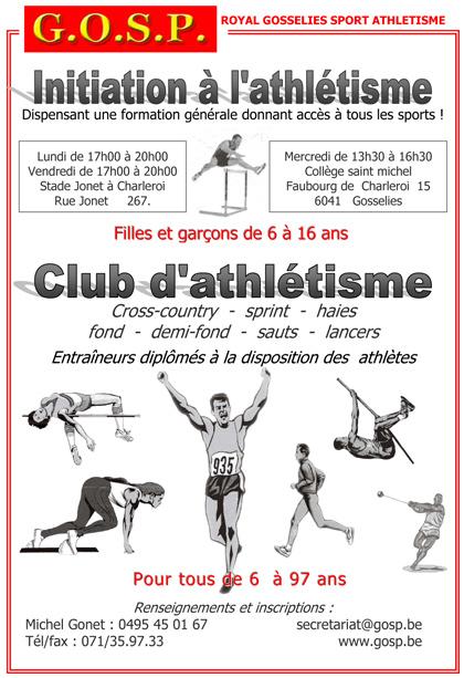 Bienvenue au GOSP - Royal Gosselies Sport Athlétisme
